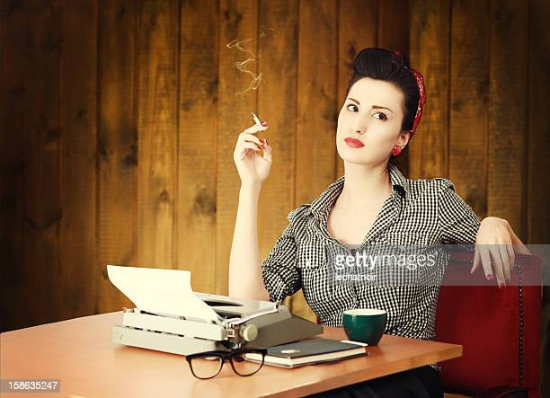 vintage female writer - authors stock pictures, royalty-free photos & images