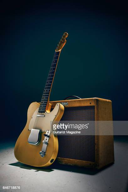 A vintage Fender Telecaster and Fender Deluxe amplifier taken on April 26 2016