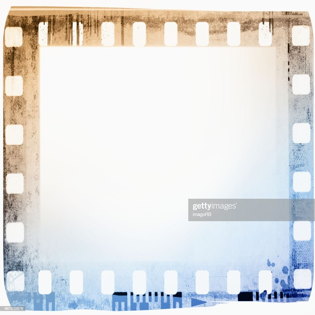 Vintage Film Strip Frame In Blue And Sepia Tones Stock Photo | Getty ...