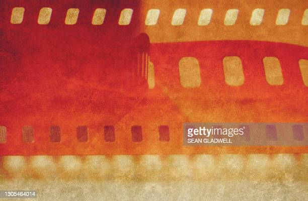 vintage filmstrip background - film stock pictures, royalty-free photos & images