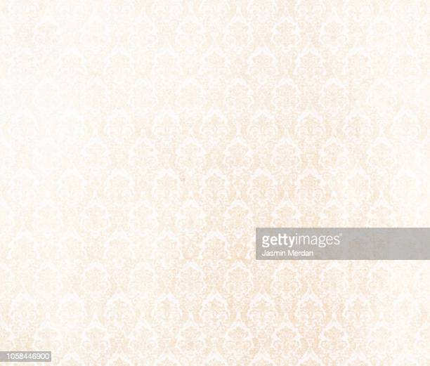 vintage floral wallpaper - victorian wallpaper stock pictures, royalty-free photos & images