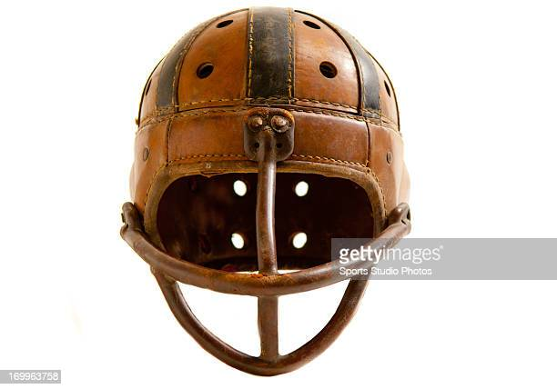 Vintage Football Helmet 1930's Leather football helmet Wingfront style with original chinstrap