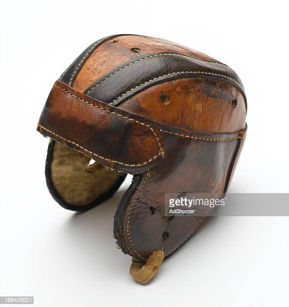 vintage football helmet - football helmet stock pictures, royalty-free photos & images
