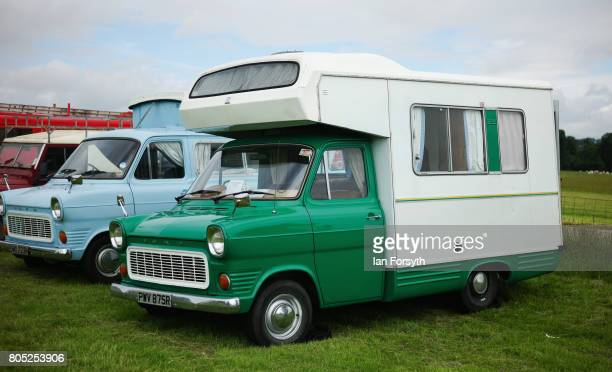 A vintage Ford Campervan is displayed during the Duncombe Park Steam Rally on July 1 2017 in Helmsley United Kingdom Held annually in the picturesque...