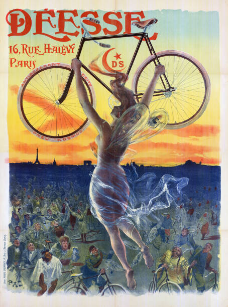 Poster Of Goddess With Bicycle