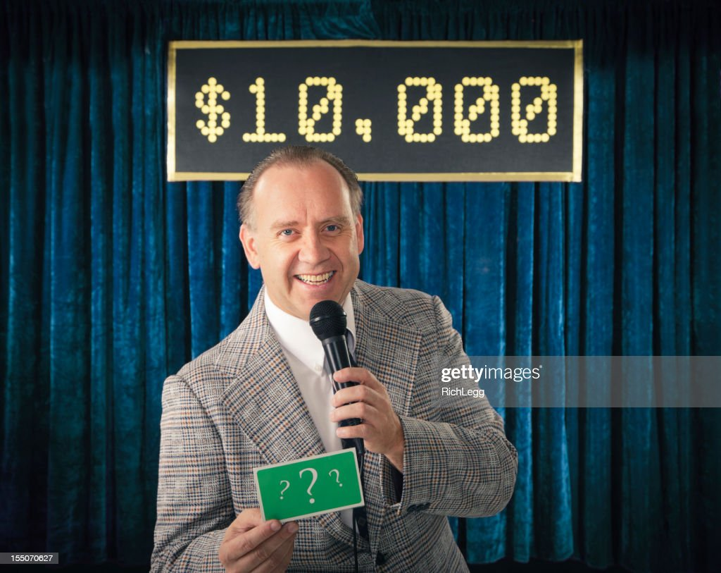 Vintage Game Show Host : Stock Photo