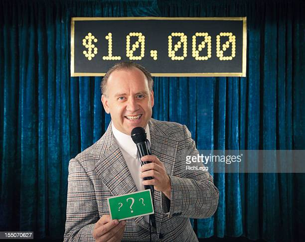 vintage game show host - stage set stock pictures, royalty-free photos & images