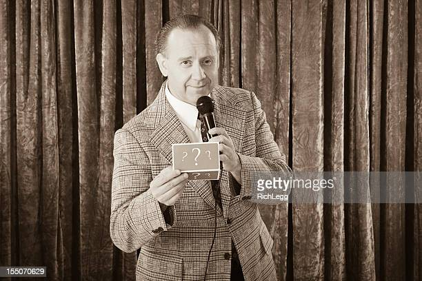 vintage game show - stage set stock pictures, royalty-free photos & images