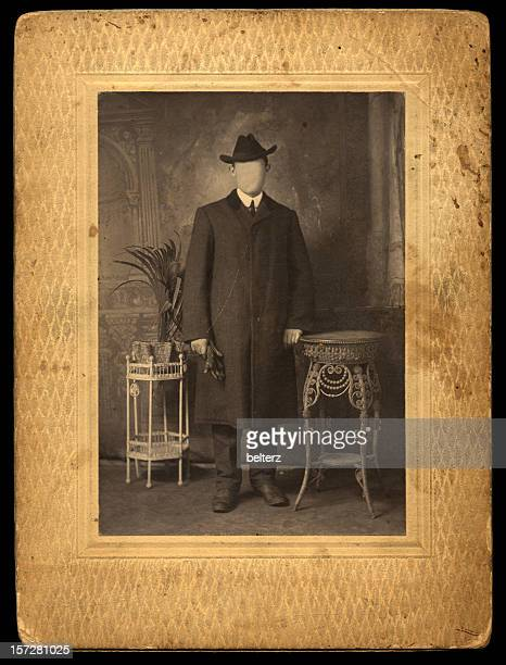 vintage gentleman - long coat stock pictures, royalty-free photos & images