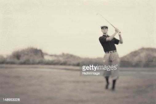 vintage golfer fotos