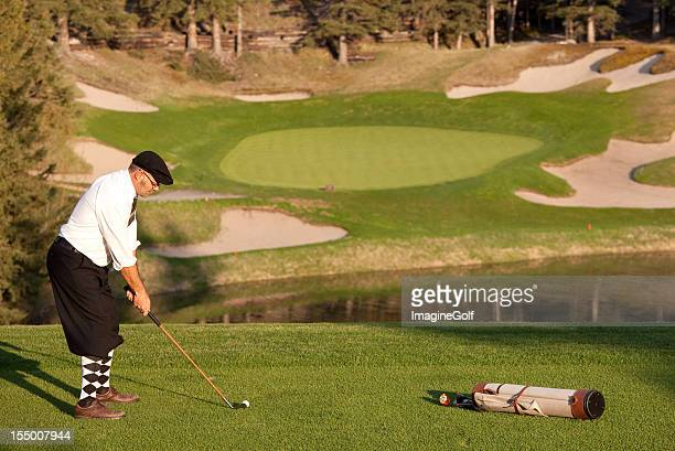 vintage golf - plus fours stock photos and pictures