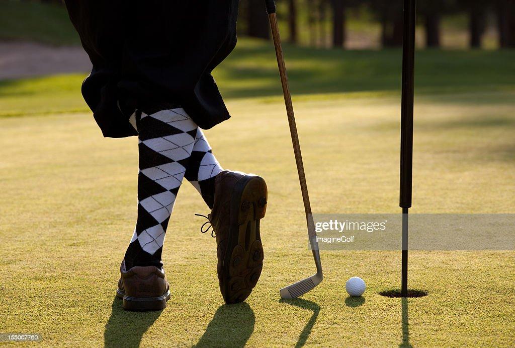 Vintage Golfer with Plus Fours Closeup on Legs : Stock Photo