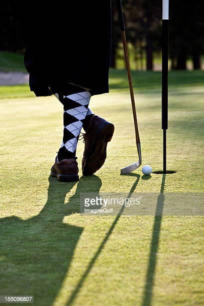ヴィンテージのゴルファーにニッカーズ