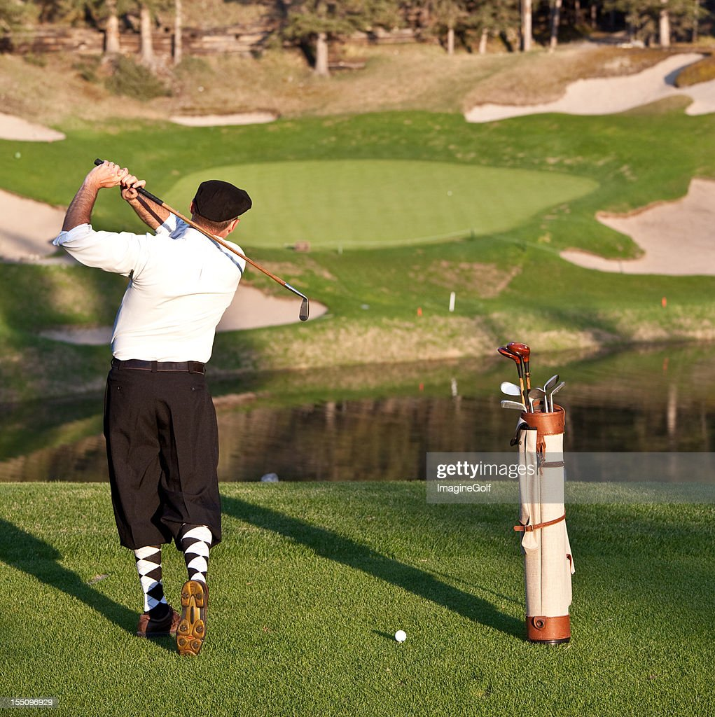 Vintage Golfer with Plus Fours : Stock Photo