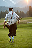 Vintage Golfer with Plus Fours