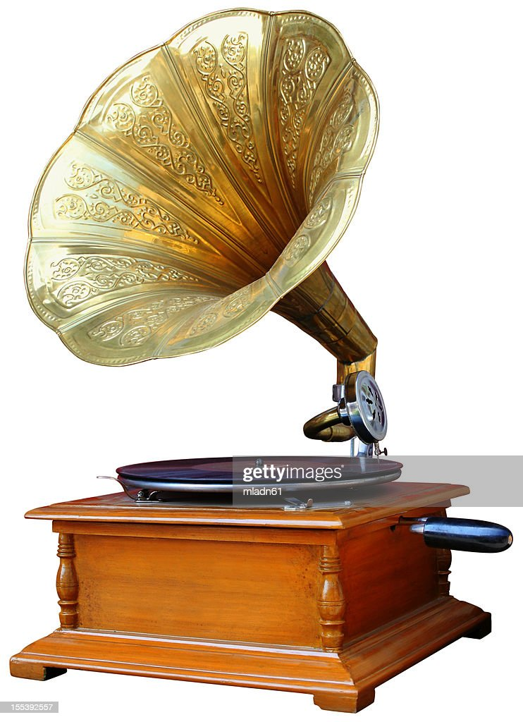 Vintage Gramophone : Stock Photo