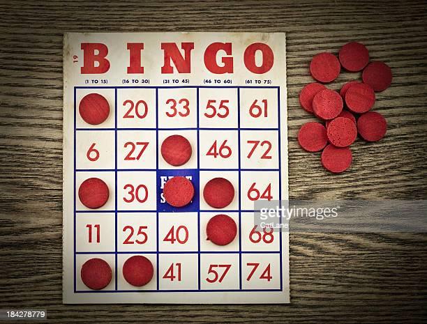 Bingo carta grunge Vintage