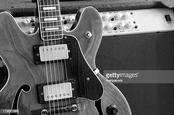 Vintage-Gitarre und amp