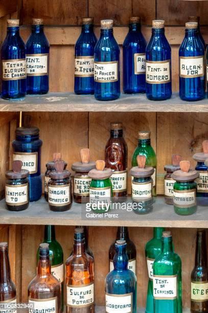 Vintage Herbal Medicine Bottles