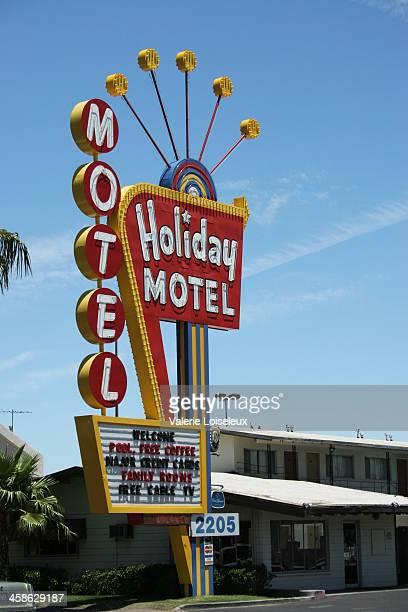 Vintage Holiday Motel Sign at La Vegas
