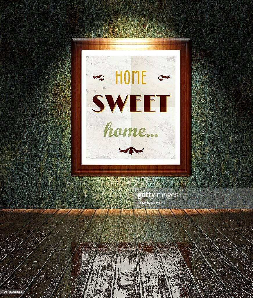 Vintage Home Sweet Home Poster In Frame Stock Photo Getty Images
