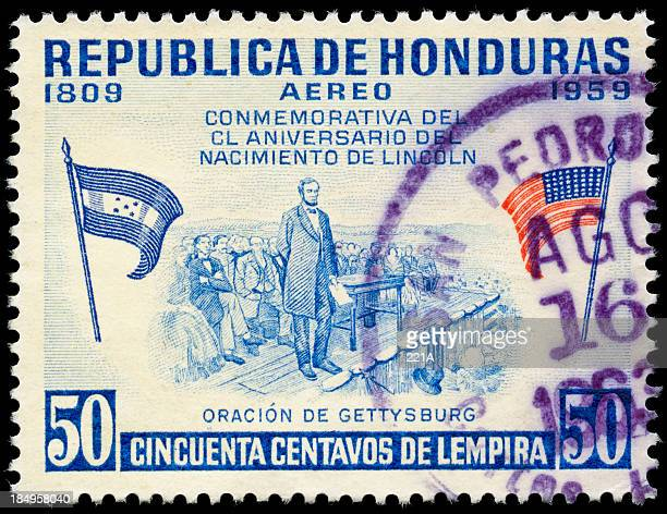 vintage honduran air mail stamp 1959 - 1950 1959 stock pictures, royalty-free photos & images