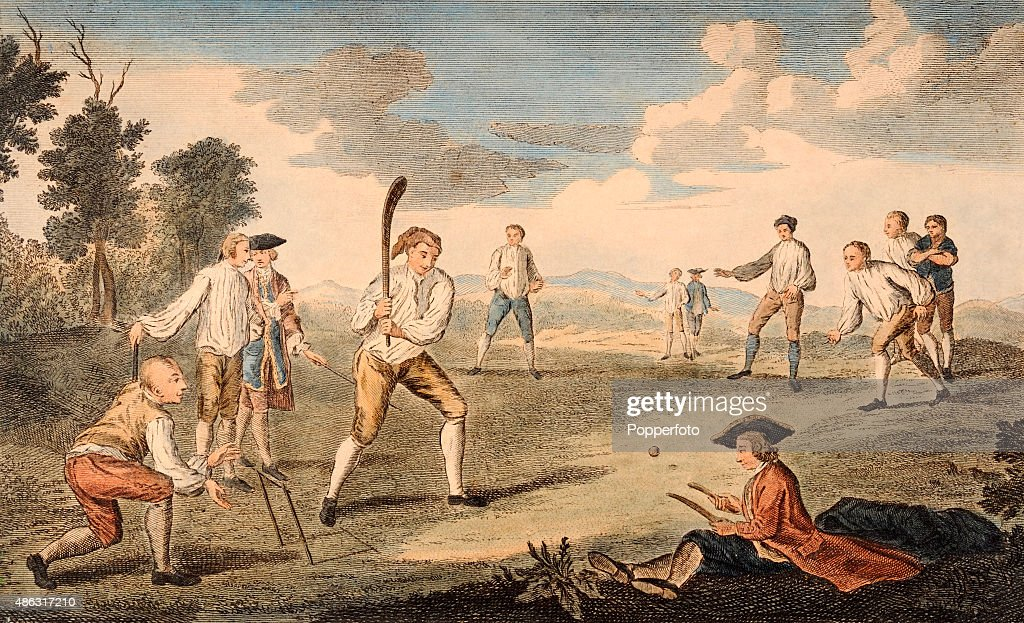Cricket On The Artillery Ground : News Photo