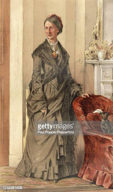 Vintage illustration featuring Angela, 1st Baroness Burdett-Coutts, the British philanthropist, after an original painting by the artist Theobald...