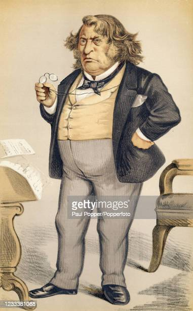 Vintage illustration featuring Charles Sumner, the United States senator, published by Vanity Fair magazine on the 25th May 1872, in London, England.