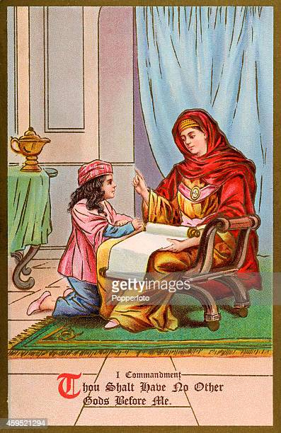 1d494b48a906 A vintage illustration featuring the First Biblical Commandment Thou shalt  have no other Gods before me