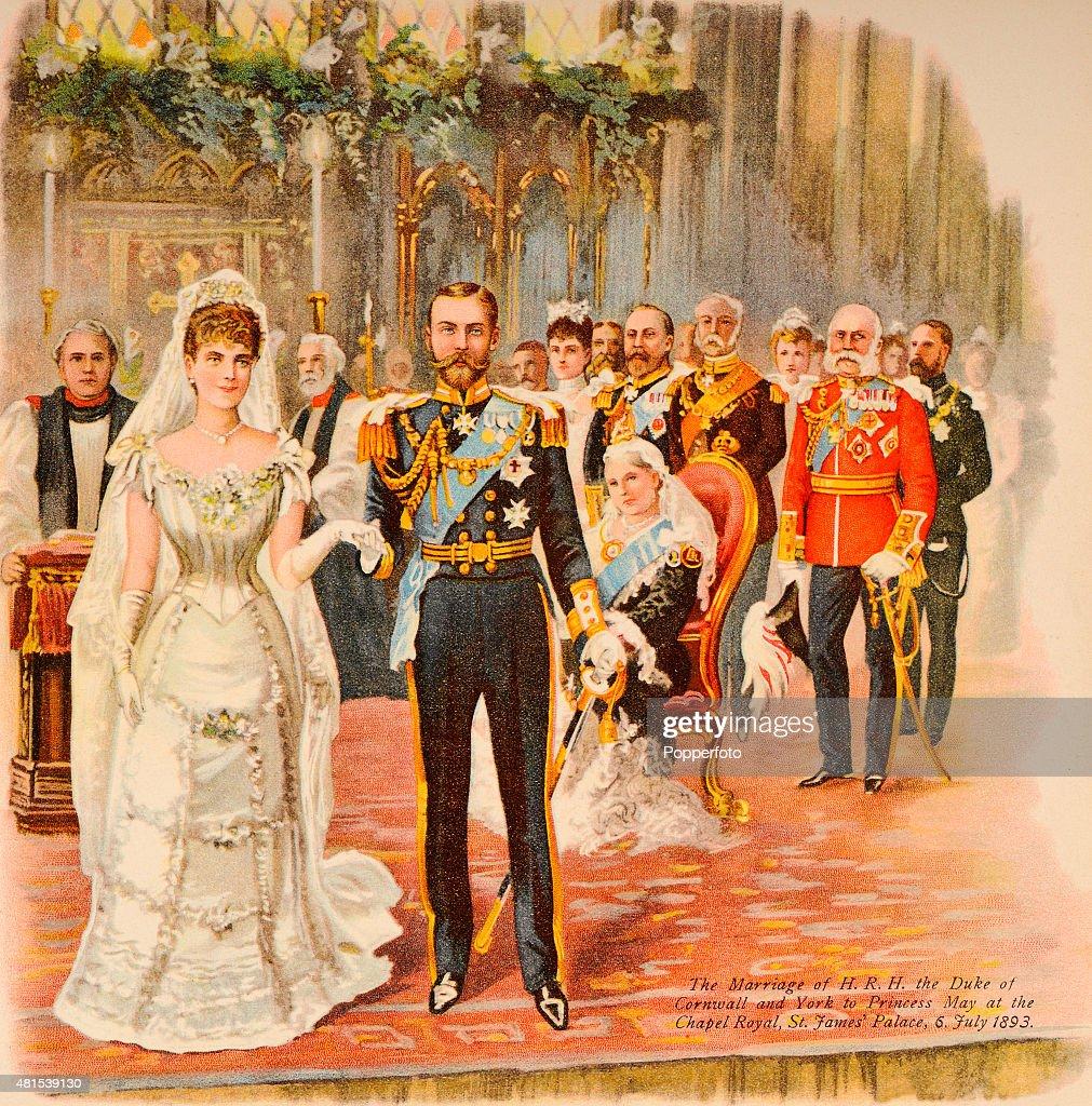 Royal Wedding - Duke Of Cornwall & York To Princess May : News Photo