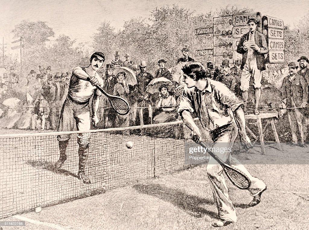 Herbert Lawford And William Renshaw - Wimbledon Illustration : News Photo