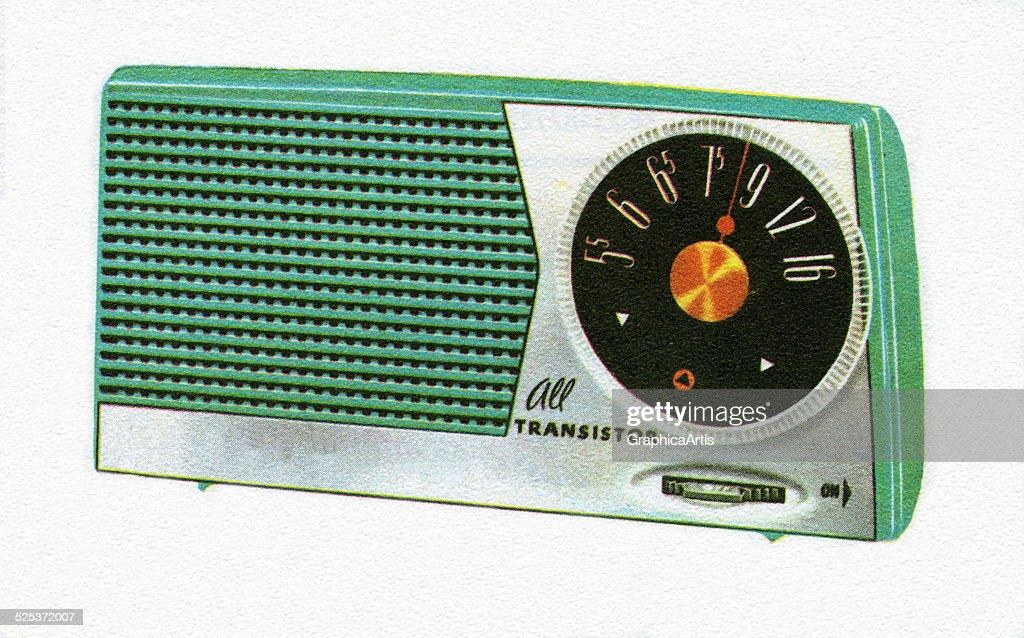 Vintage 1950s Transistor Radio : News Photo