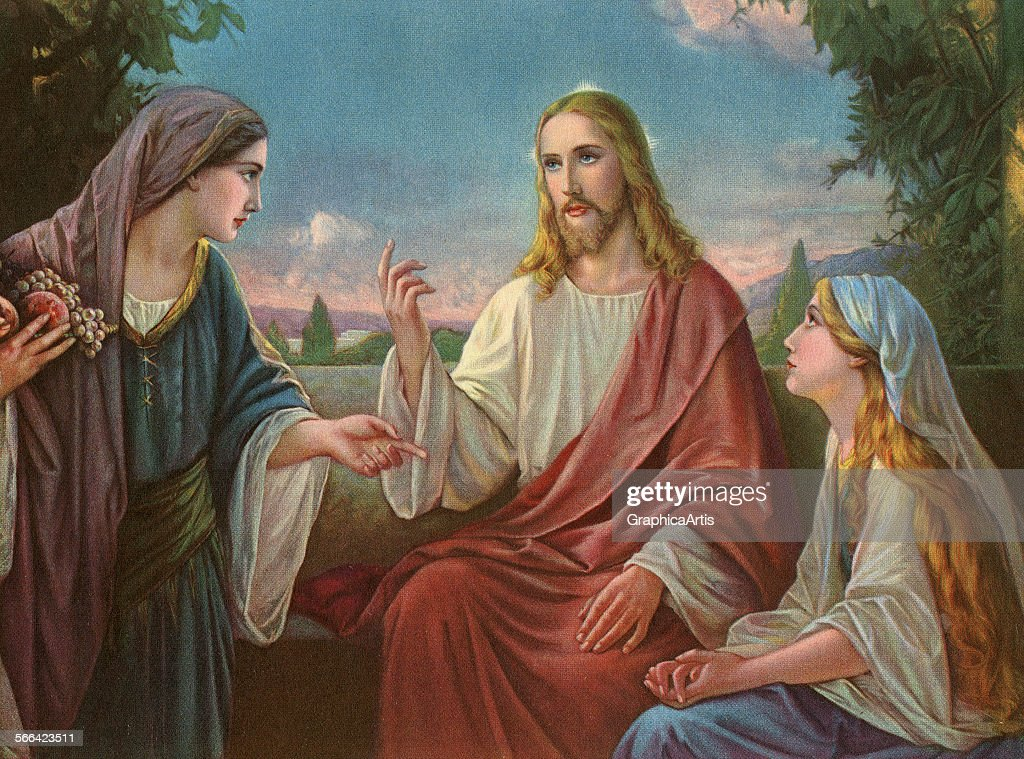Christ With The Two Marys : News Photo