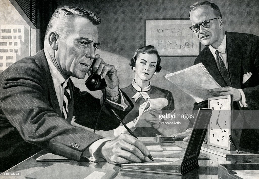 Boss On The Phone In Office : News Photo