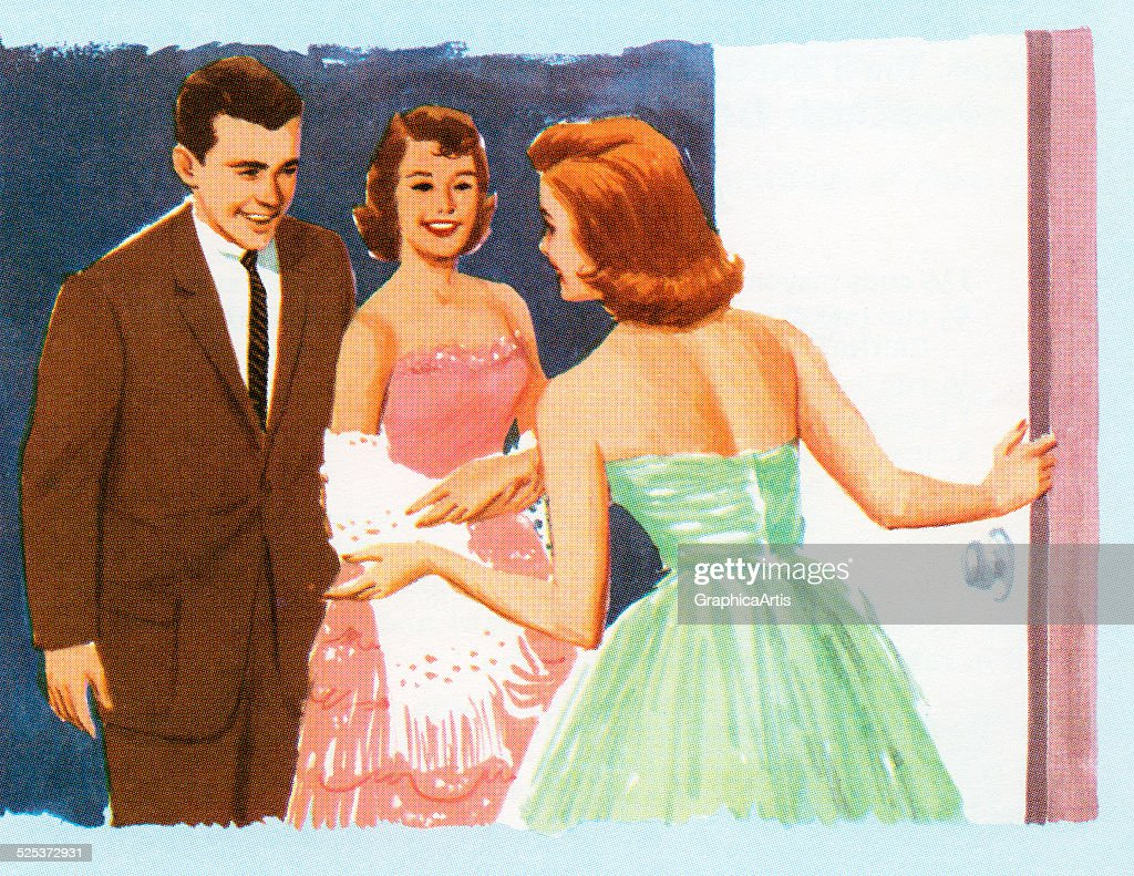 Strange Vintage Illustration Of A Couple Arriving At A Teen House Party News Photo Getty Images Door Handles Collection Olytizonderlifede