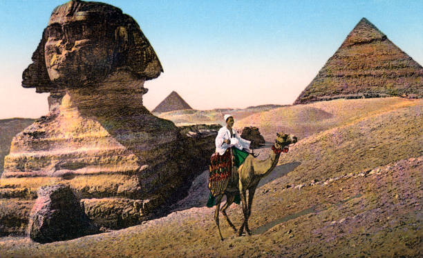 Man On Camel At Great Sphinx Wall Art