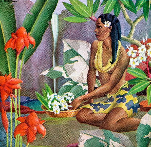 Hawaiian Woman In Landscape