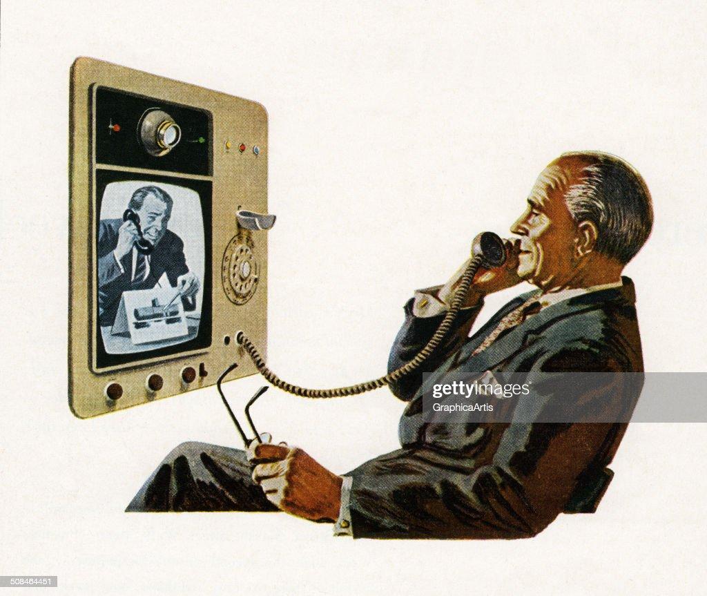 Futuristic Video Telephone : News Photo
