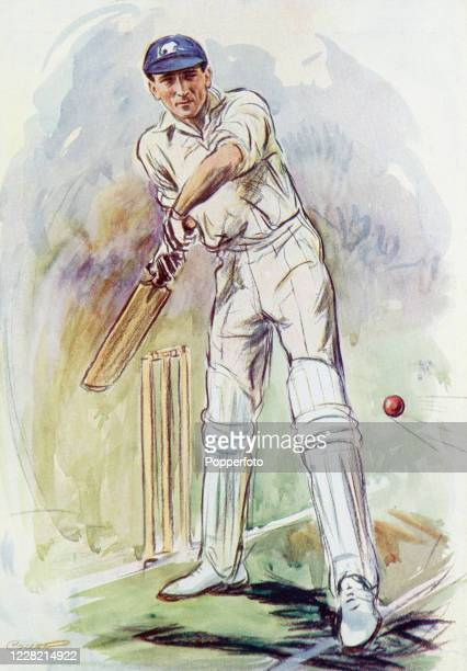 Vintage illustration of Douglas Jardine, Surrey and England cricketer, published in London on 27th July 1929. In the late 1920s a series of...