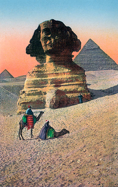 Great Sphinx And Giza Pyramids Wall Art
