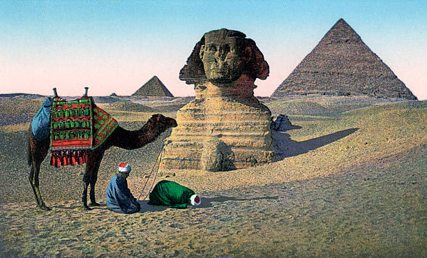 Praying Men At Great Sphinx Wall Art
