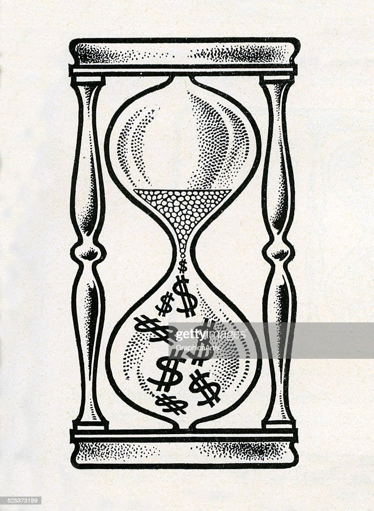 Hourglass And Dollar Signs : News Photo