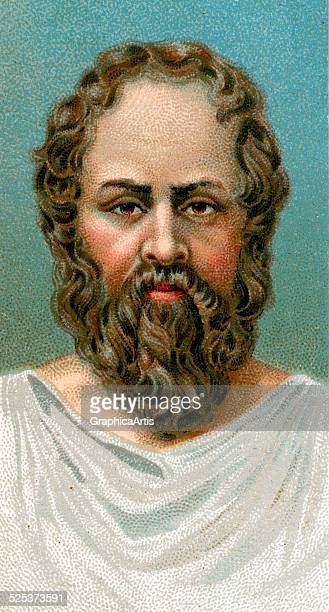 Vintage illustration of Socrates chromolithograph 1923