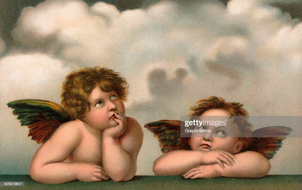 Two Angels After Raphael : News Photo
