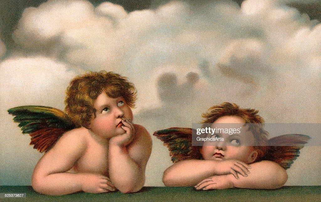 Two Angels After Raphael : ニュース写真