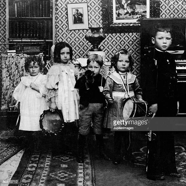 Vintage image of children with musical instruments