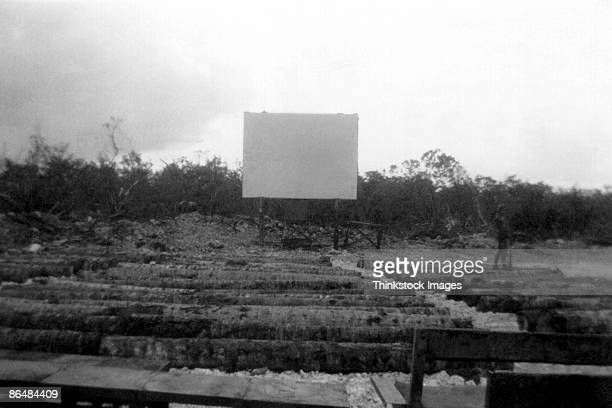Vintage image of drive-in movie theater