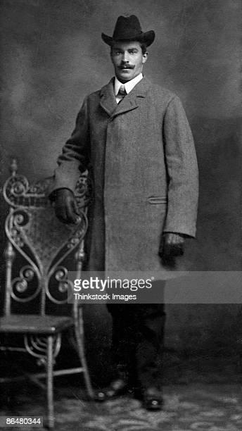 Vintage image of man in overcoat