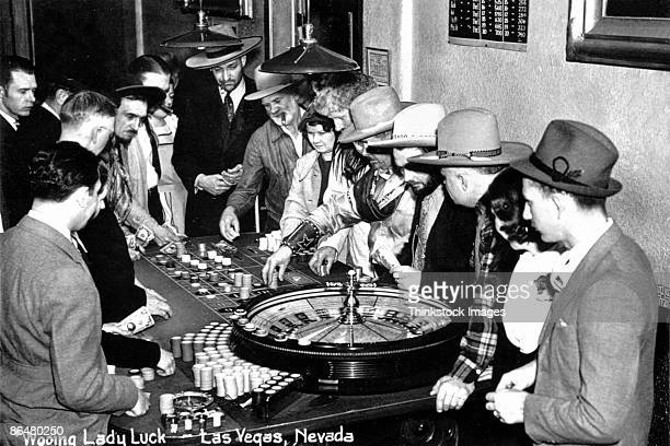 Vintage image of people gambling